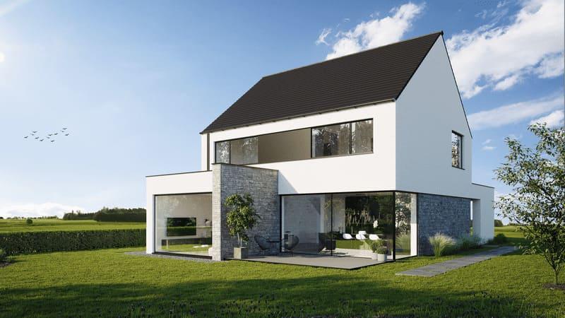 Construction haut de gamme toiture double versants