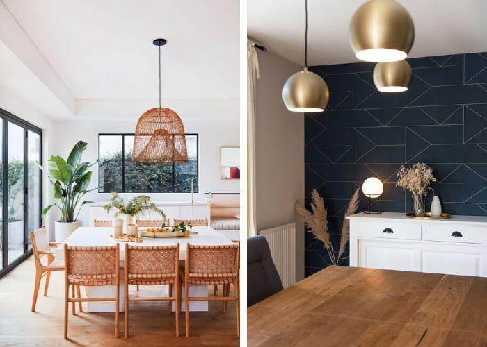 Aménagement d'une salle à manger dans une maison sur mesure