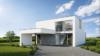 Maison vue avant, toiture plate - Entreprise de construction Liège