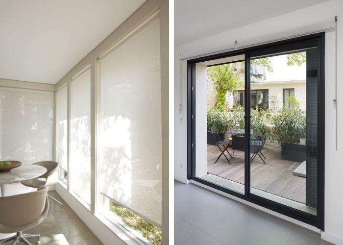 Stores solaires extérieurs maison sur mesure