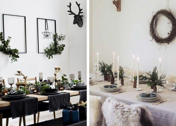 Décoration table Noël 2020